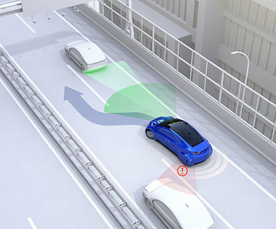 Side view assist systems help to avoid collisions while changing lanes.