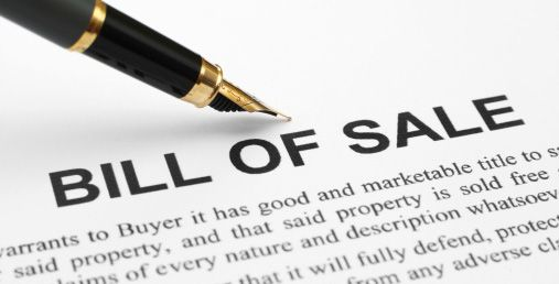 what is a bill of sale dmv org