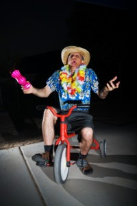drunk guy on tricycle