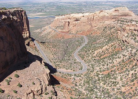 The view from Rim Rock Drive.