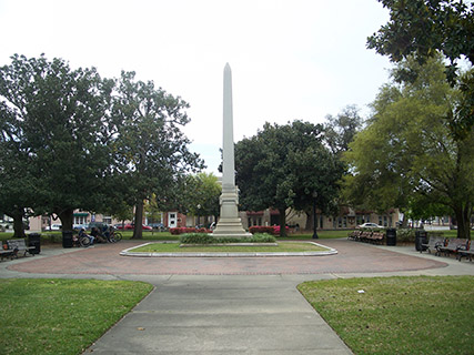 Plaza Ferdinand VII is the site of future U.S. President Andrew Jackson's swearing-in as Florida's first territorial governor.