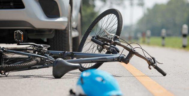 Car hit bike