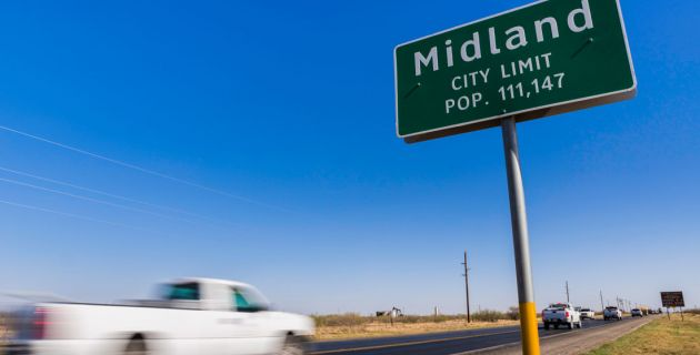 Midland Texas is one of the 10 safest places to drive in bad weather.