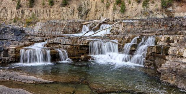Libby, Montana waterfall