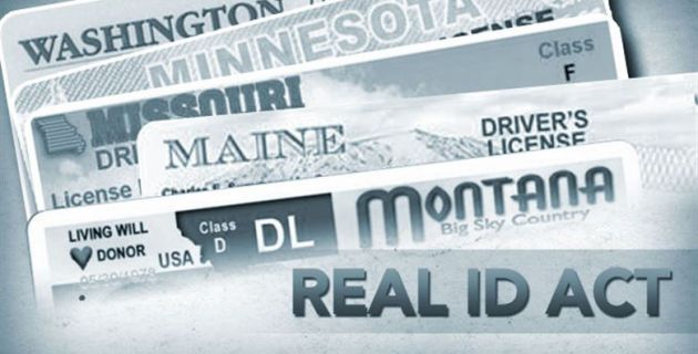 Different state ID cards for REAL ID