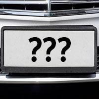 License Plate Faqs Dmv Org